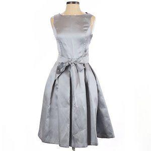 Isaac Mizrahi metallic cocktail dress